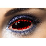 Fashion Lentilles Jaws Red sclera 22 mm